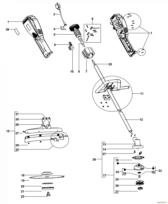 ryobi sensen freischneider elektro ebc1040 2 ab 2006. Black Bedroom Furniture Sets. Home Design Ideas