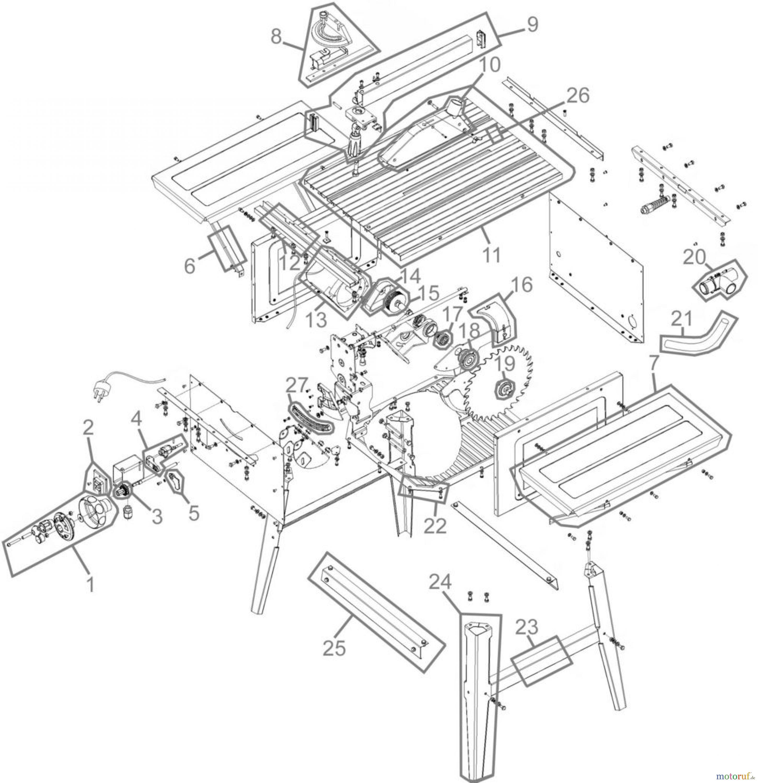 g de holzbearbeitung tischkreiss gen tischkreiss ge tk 2500 eco 55165 fsl55165 01 ersatzteile. Black Bedroom Furniture Sets. Home Design Ideas