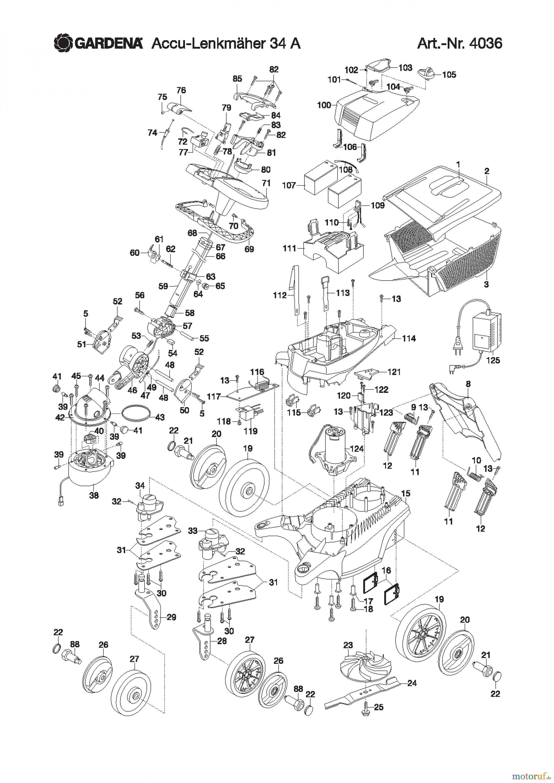 gardena rasenm her accu lenkm her 34 a ersatzteile online. Black Bedroom Furniture Sets. Home Design Ideas