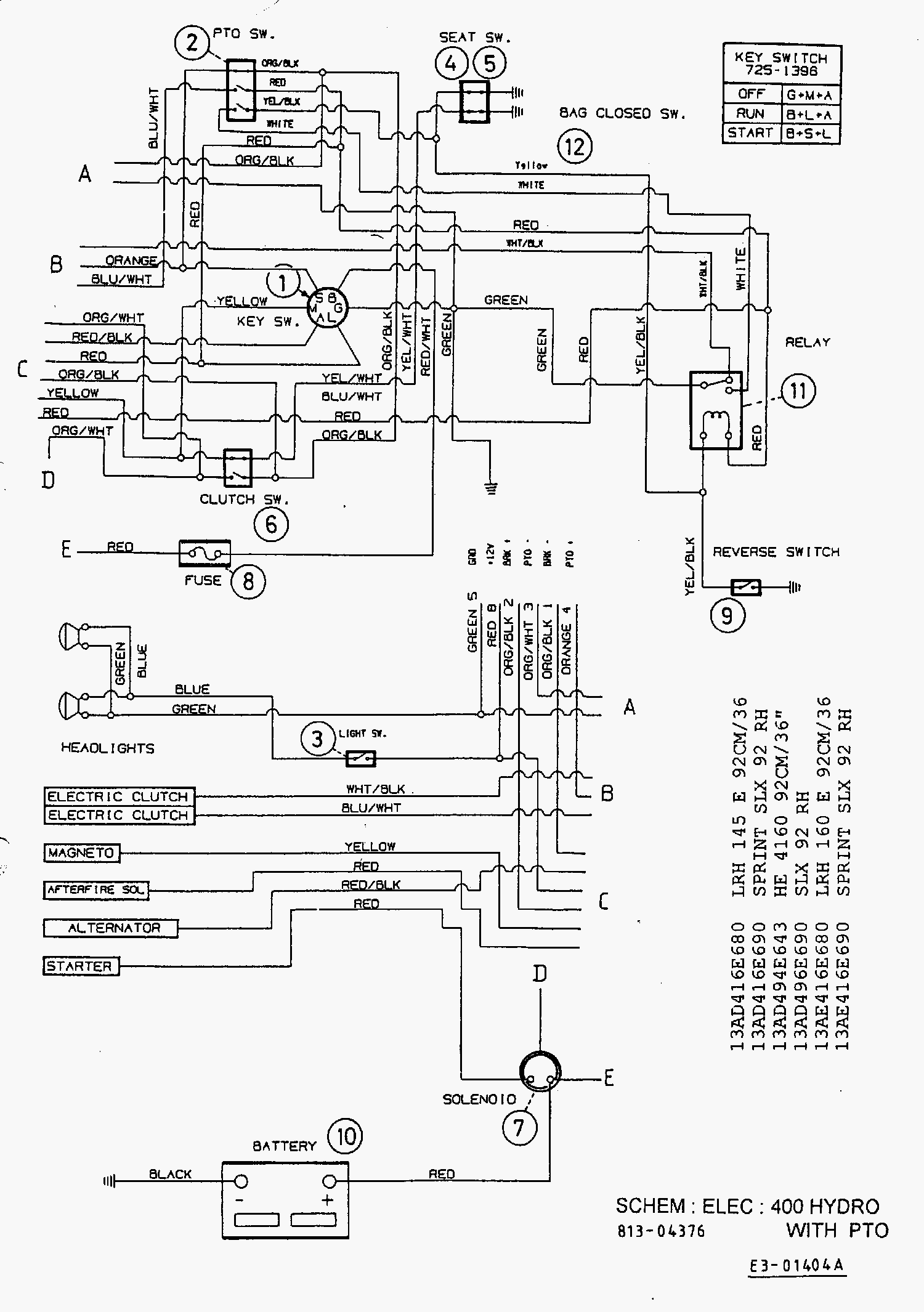 wiring diagram for murray riding lawn mower solenoid solidfonts 1995 murray riding mower wiring diagram the