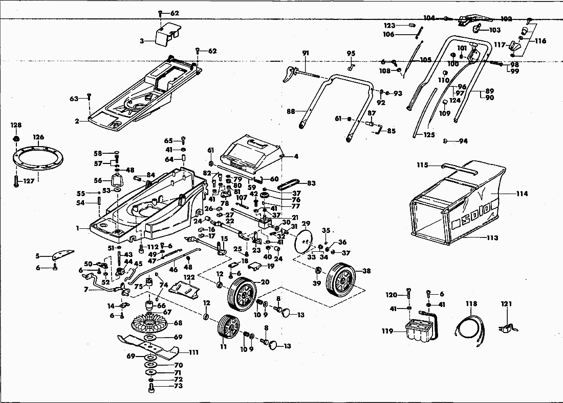 Lawn Mower Ignition Diagram also 00006 besides 6h5do Route Hydrostat Drive Belt Sabre 1742hs further 16hp vtwin besides Lawn Mower Wiring. on old murray riding mower parts