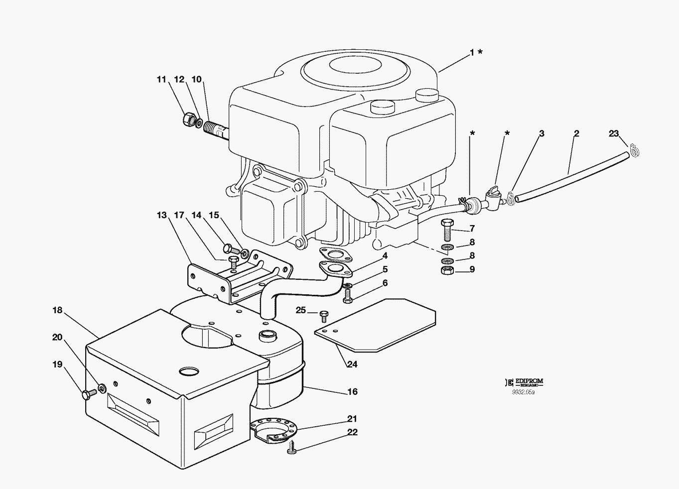mtd lawn mower engine diagram