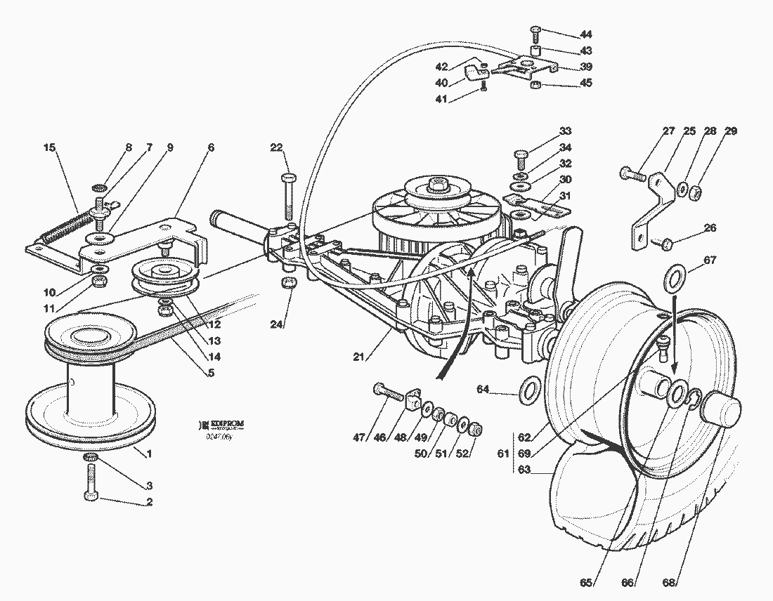 ersatzteillisten f r solo rasenm her getriebe f72 hydro ersatzteil shop. Black Bedroom Furniture Sets. Home Design Ideas