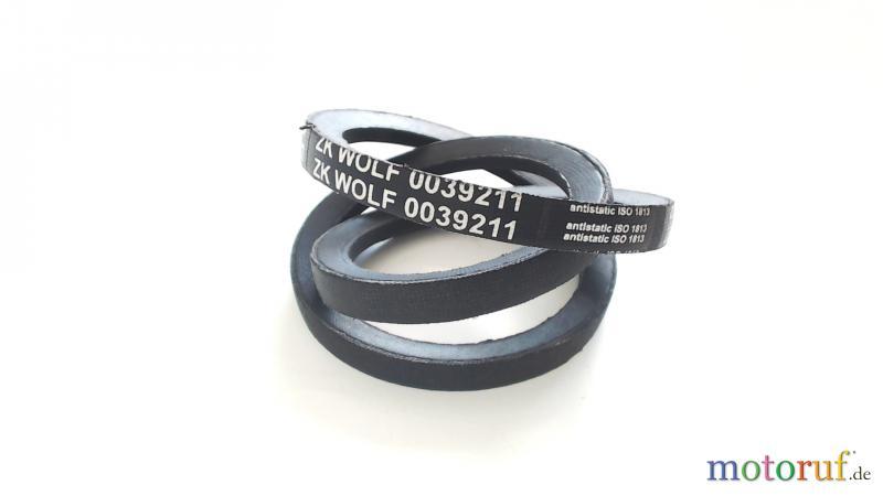 2 Keilriemen für Wolf SPZ 787 Cart Fahrantrieb Riemen 0039102 0039211 Bulktex®