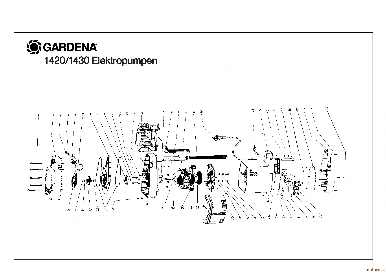 gardena wassertechnik pumpen elektropumpe 1000 s ersatzteile online bestellen. Black Bedroom Furniture Sets. Home Design Ideas