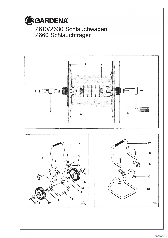 gardena wassertechnik schlauchwagen schlauchwagen 100 m bis baujahr 1999 ersatzteile online. Black Bedroom Furniture Sets. Home Design Ideas