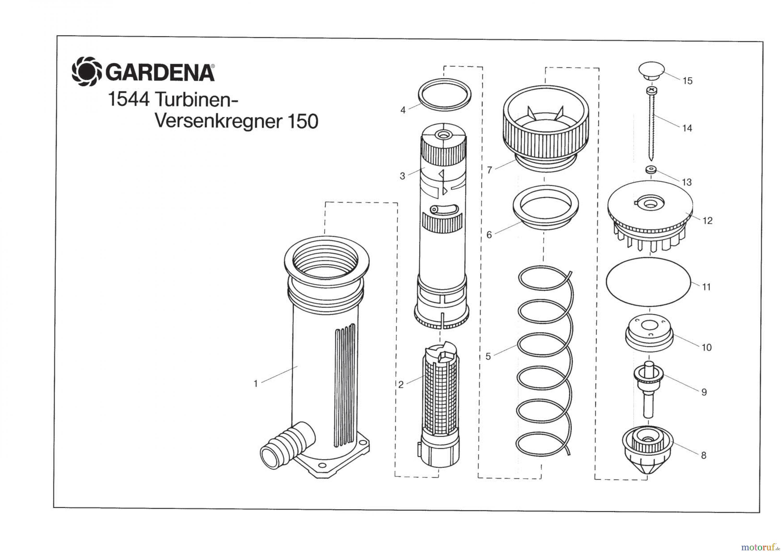 gardena wassertechnik regner turbinen versenkregner 150 ersatzteile g nstig online kaufen. Black Bedroom Furniture Sets. Home Design Ideas