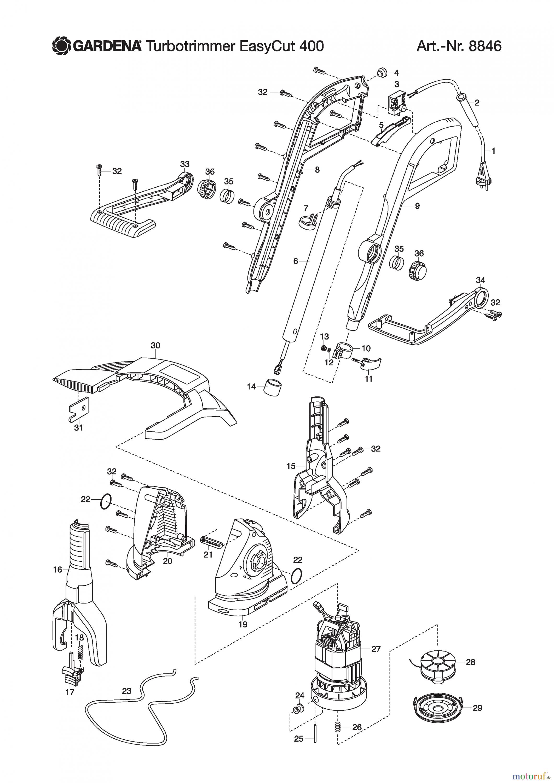 gardena trimmer turbotrimmer easycut 400 ersatzteile. Black Bedroom Furniture Sets. Home Design Ideas