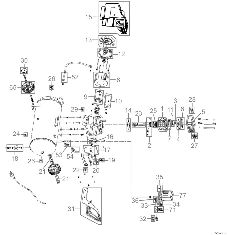 g de drucklufttechnik kompressoren lgeschmiert bis 50l kessel kompressor 231 8 24 50041. Black Bedroom Furniture Sets. Home Design Ideas