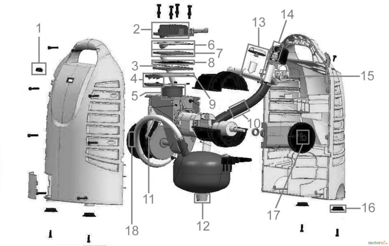 g de drucklufttechnik kompressoren sets lfrei bis 50l kessel multi kompressor set 9 tlg 50007. Black Bedroom Furniture Sets. Home Design Ideas