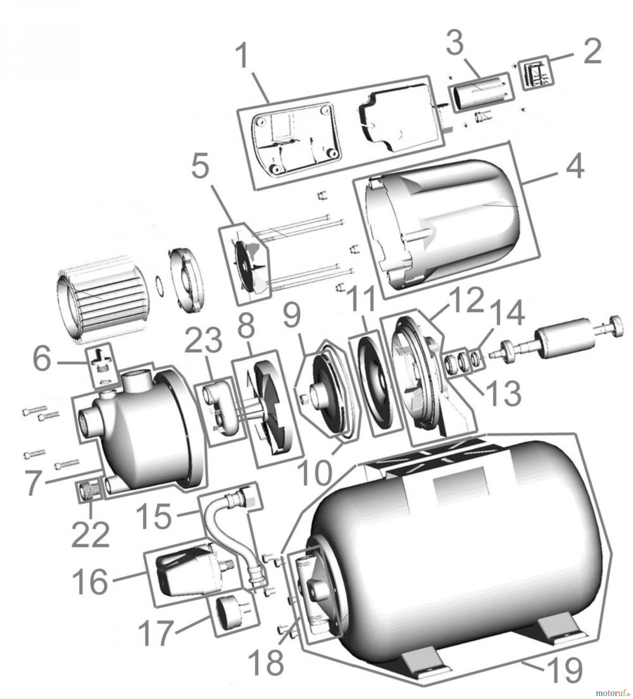 Gde Pumpentechnik Hauswasserwerke Hauswasserwerk Hww 3100 K 94667 Engine Diagram Fsl94667 01