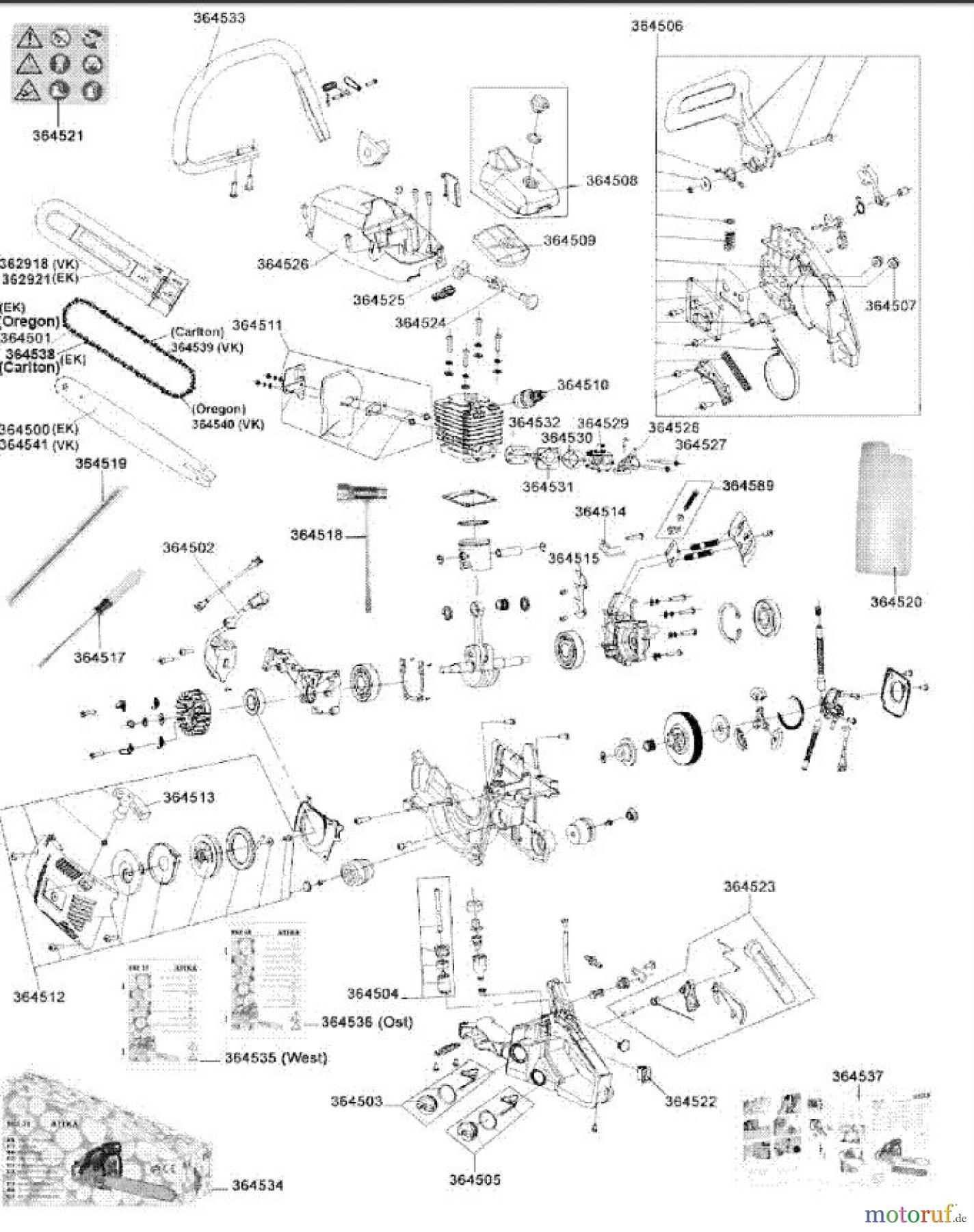 ATIKA ErsatzteilVergaserdichtung für Kettensäge BKS 38 A