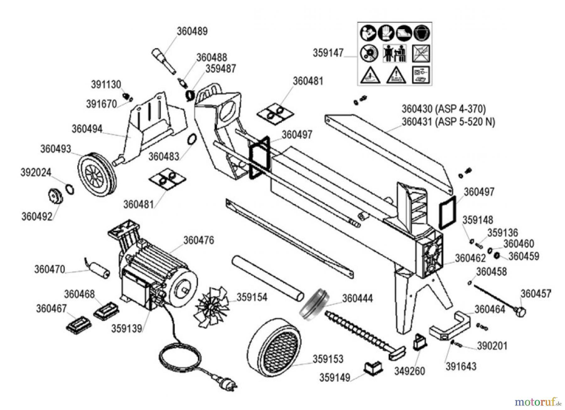 ATIKA ErsatzteilSechskant-Hutmutter für Holzspalter ASP 4-370 ASP 5-520