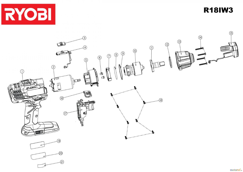 ryobi one 18v ger te r18iw3 18 v akku schlagschrauber. Black Bedroom Furniture Sets. Home Design Ideas